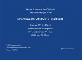 Smart Investor Final Event 2018-2019