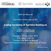 Sprinkle Holding Listing Ceremony
